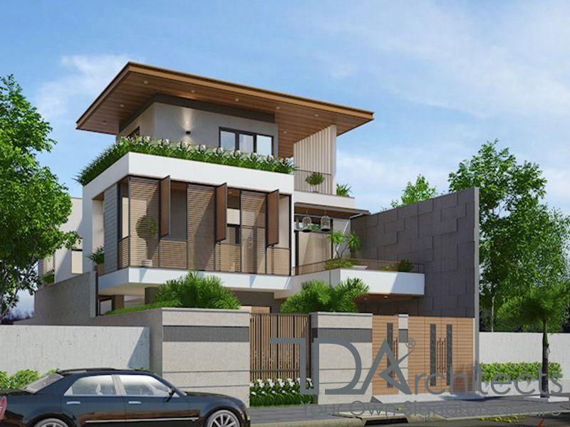 Bản thiết kế biệt thự hiện đại 3 tầng