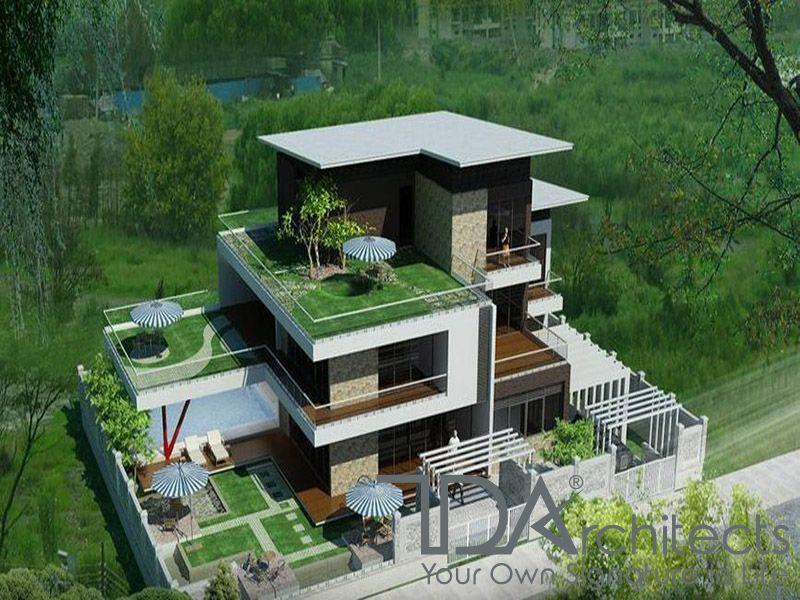 Biệt thự 3 tầng hiện đại kiểu sân vườn