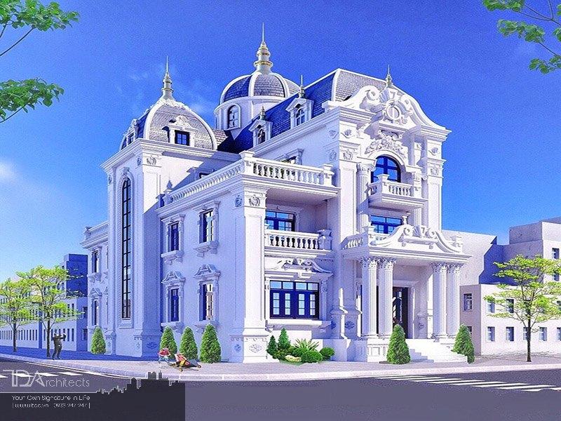 Biệt thự cổ điển lối thiết kế xu hướng châu Âu
