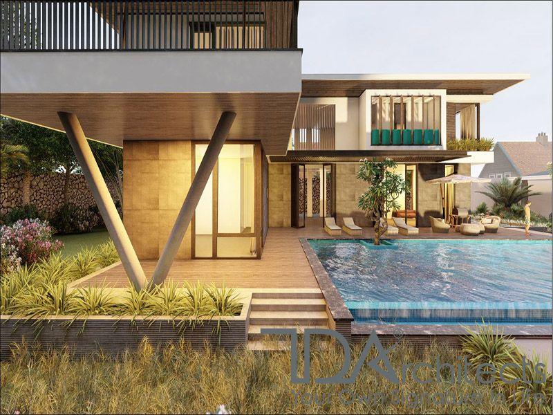 Biệt thự hiện đại kèm bể bơi