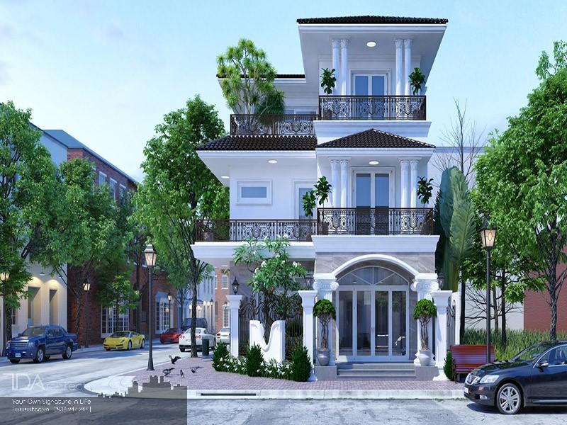 Biệt thự mini 3 tầng 2 mặt tiền hiện đại