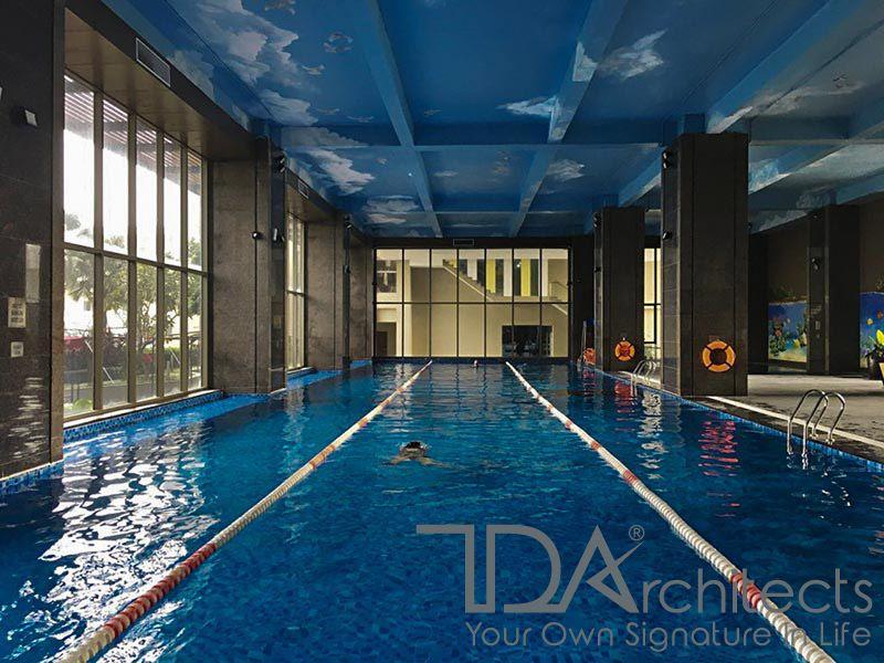 Công trình thực tế thi công bể bơi trong nhà