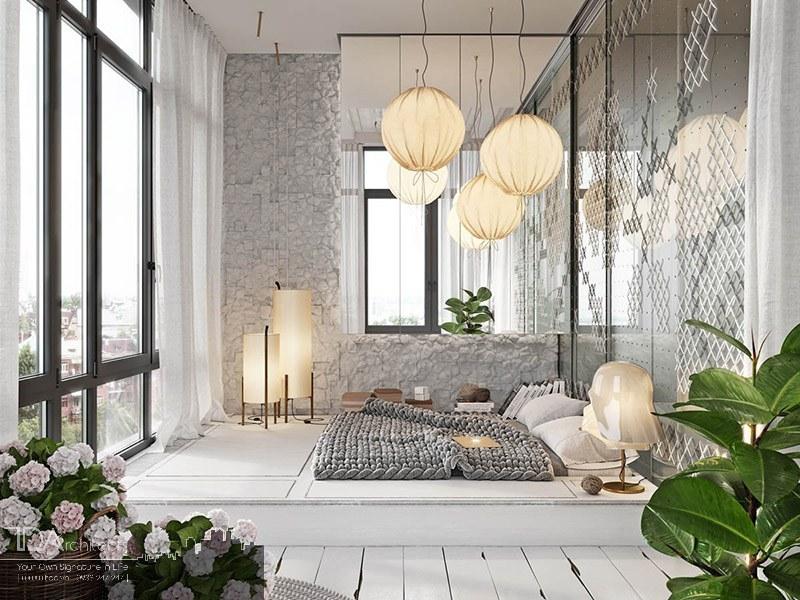 Không gian mở phòng ngủ