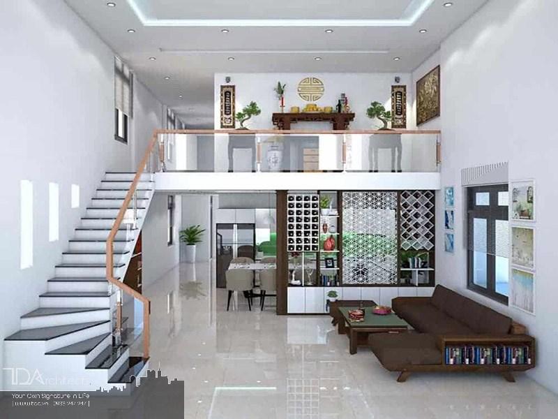 Không gian nhà với gác lửng