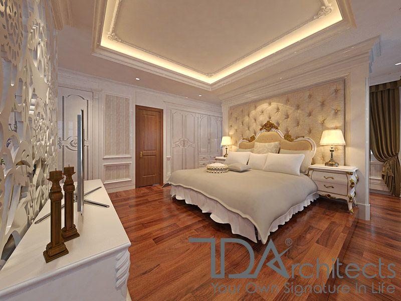 Không gian phòng ngủ tiêu chuẩn của biệt thự tân cổ điển