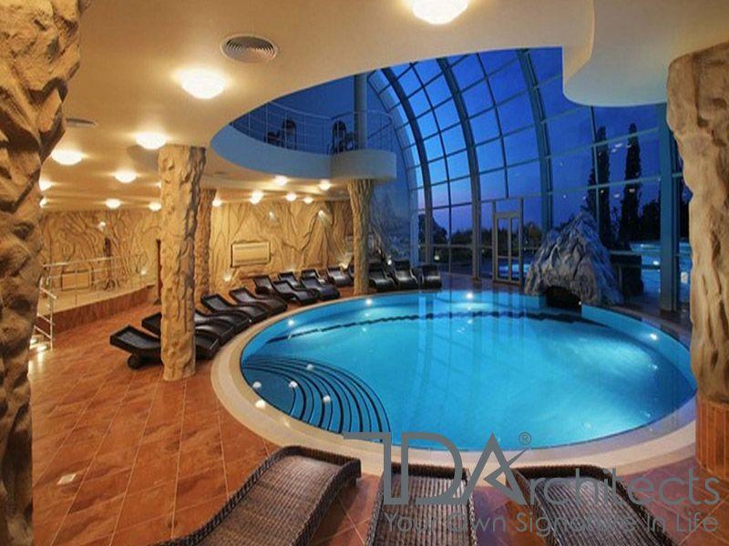 Mẫu bể bơi trong nhà xu hướng châu Âu