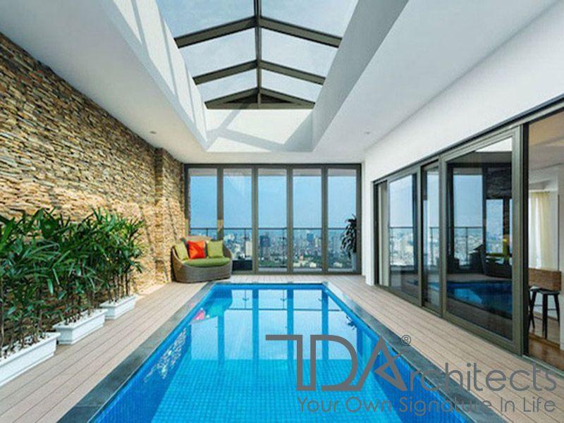 Mẫu biệt thự kèm bể bơi trong nhà