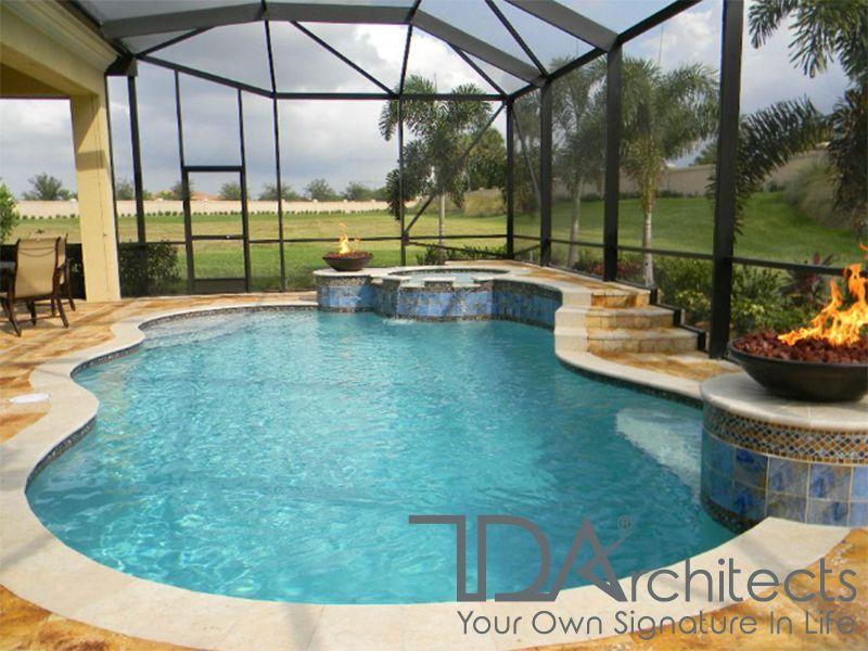 Mẫu biệt thự với bể bơi trong nhà
