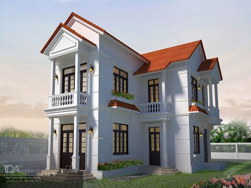 Mẫu nhà đẹp 2 tầng chữ L