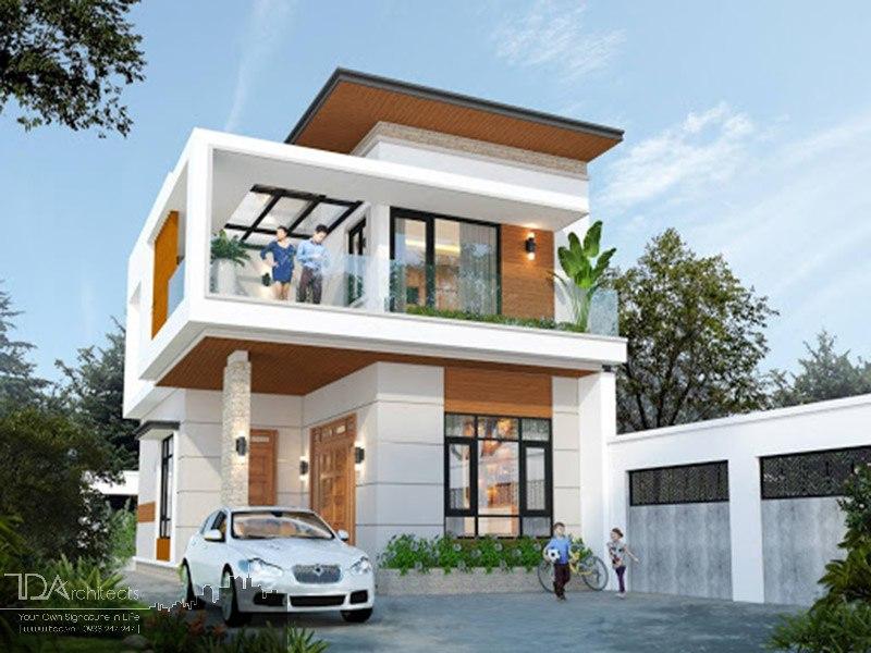 Mẫu nhà mái bằng xu hướng thiết kế hiện đại