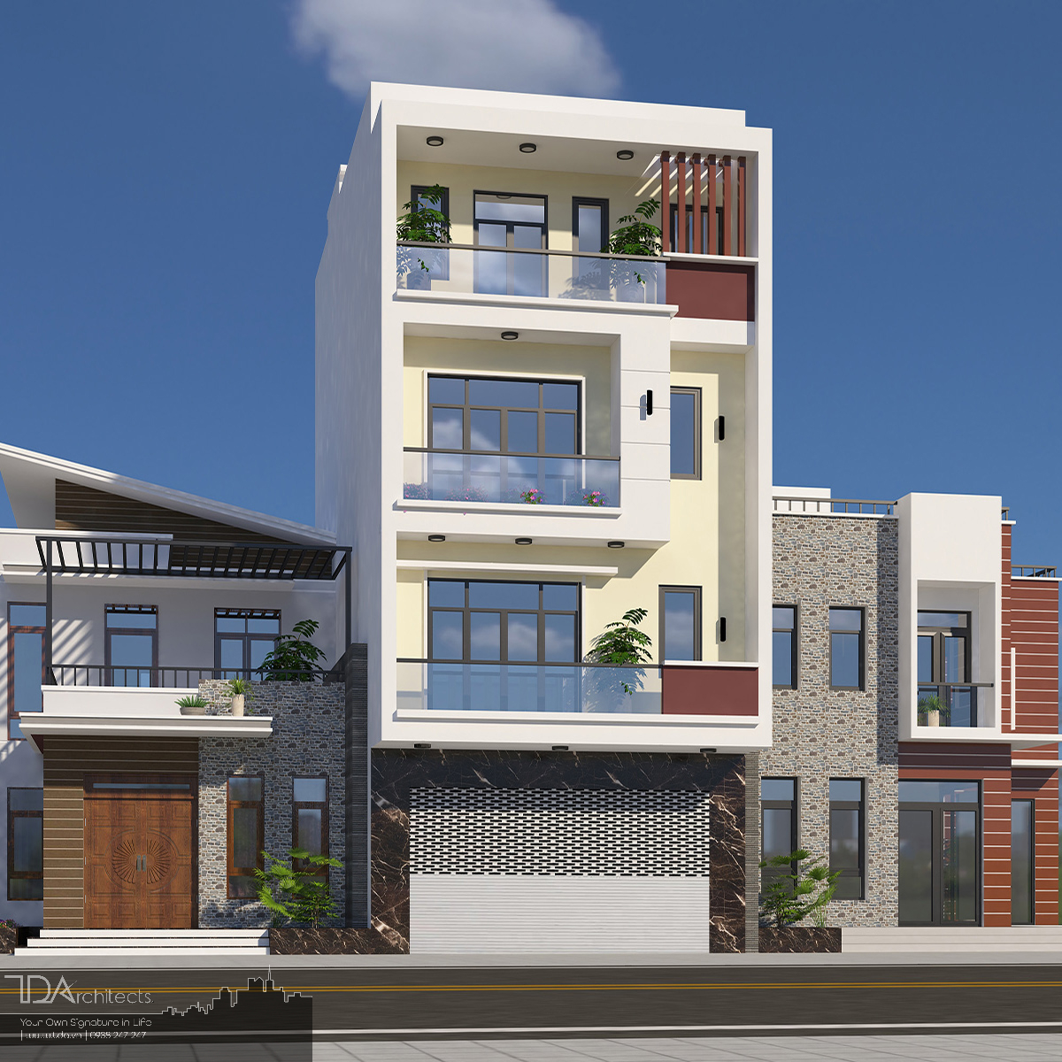 Mẫu nhà phố với bề ngang rộng