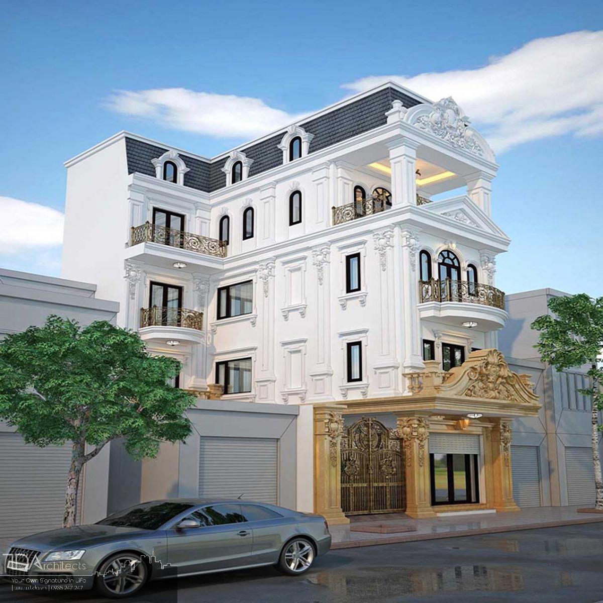 Mẫu thiết kế nhà phố cổ điển 4 tầng