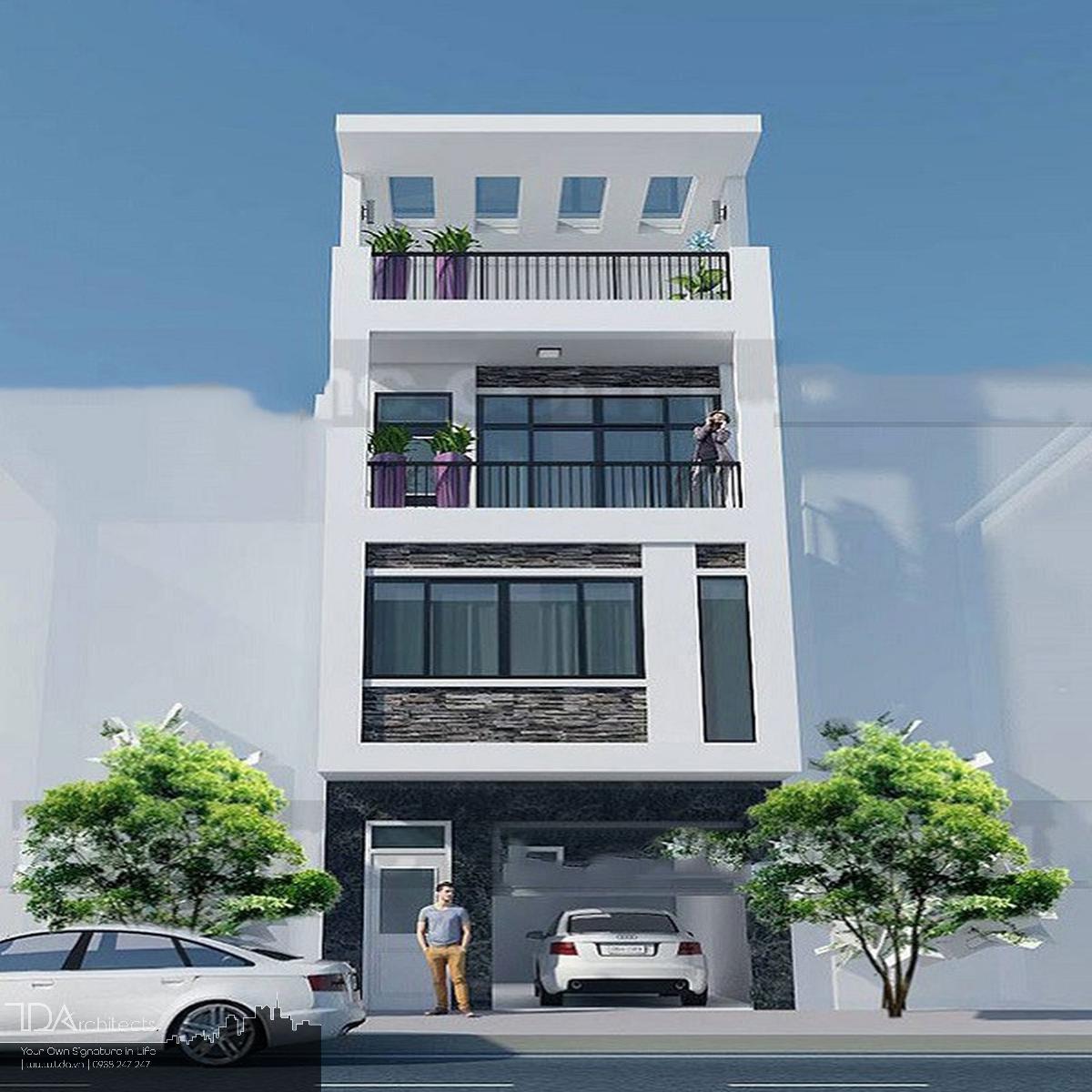 Mẫu thiết kế nhà 3 tầng có gara tại Biên Hòa
