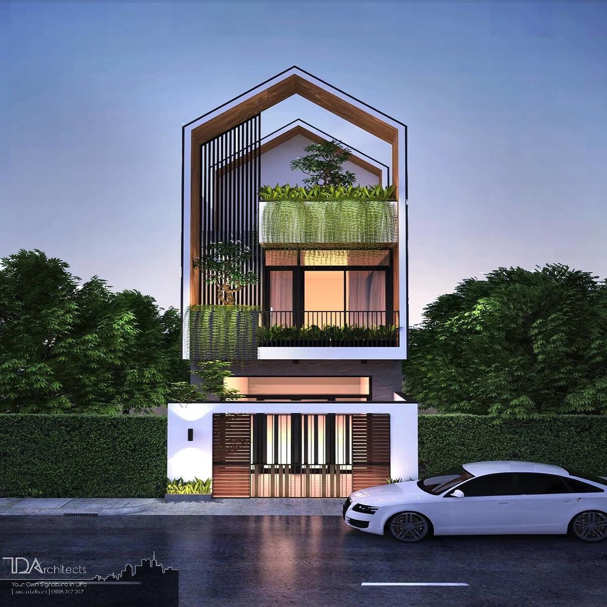 Nhà 3 tầng không gian mở với 4 phòng ngủ