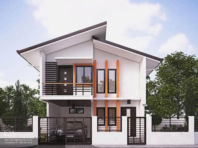Nhà mái lệch 2 tầng diện tích 8x20m