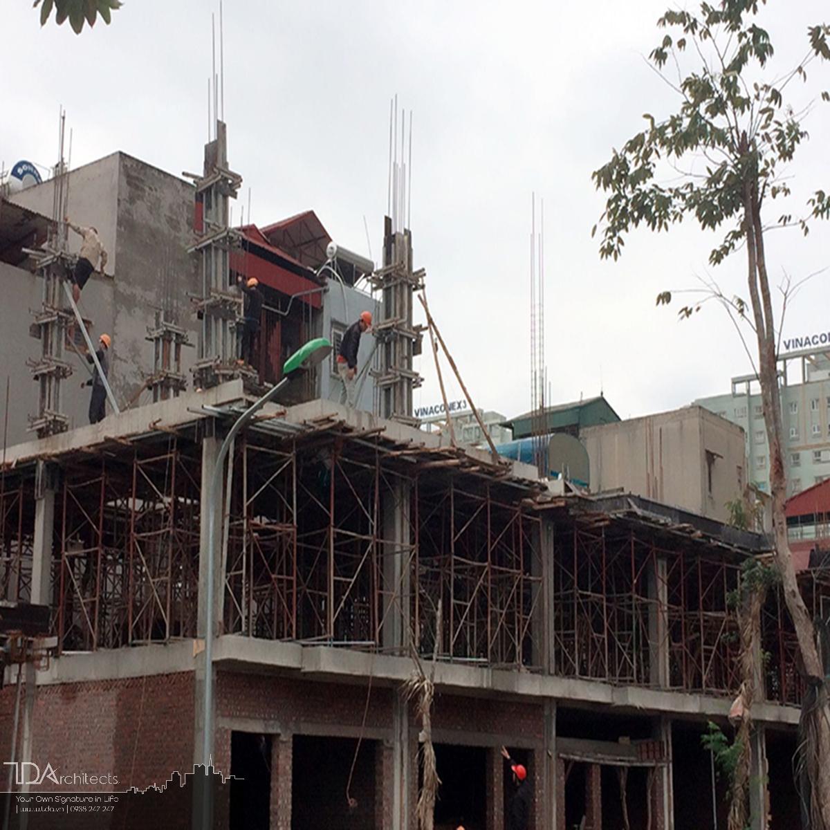 Thi công thô công trình nhà liền kề