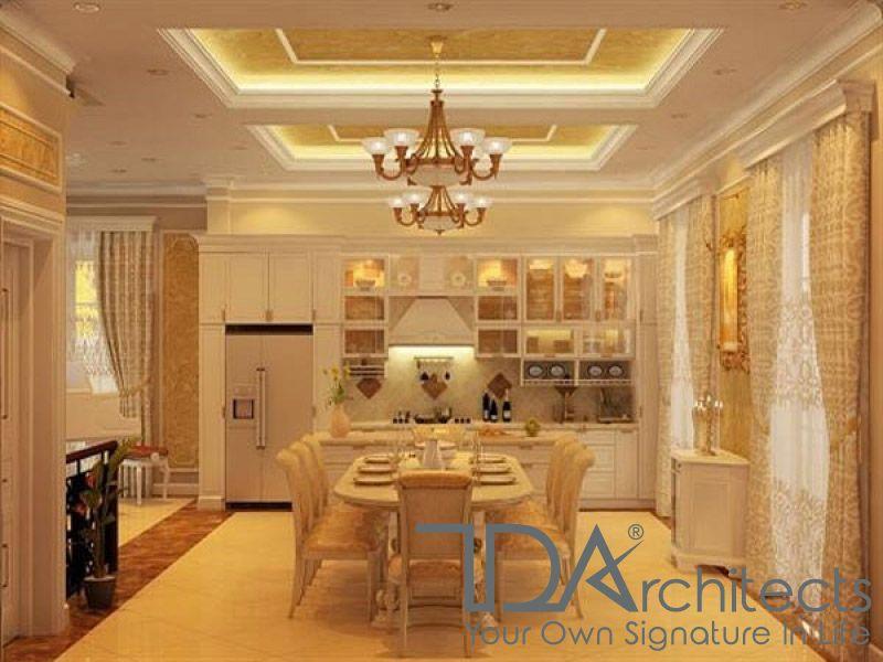 Thiết kế nội thất phòng bếp ấm cúng