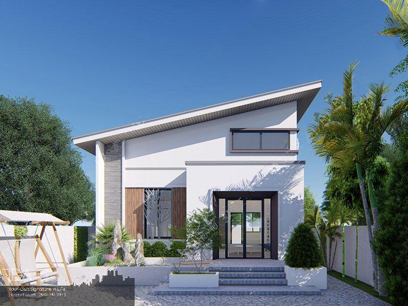 Tông màu trắng cho ngôi nhà
