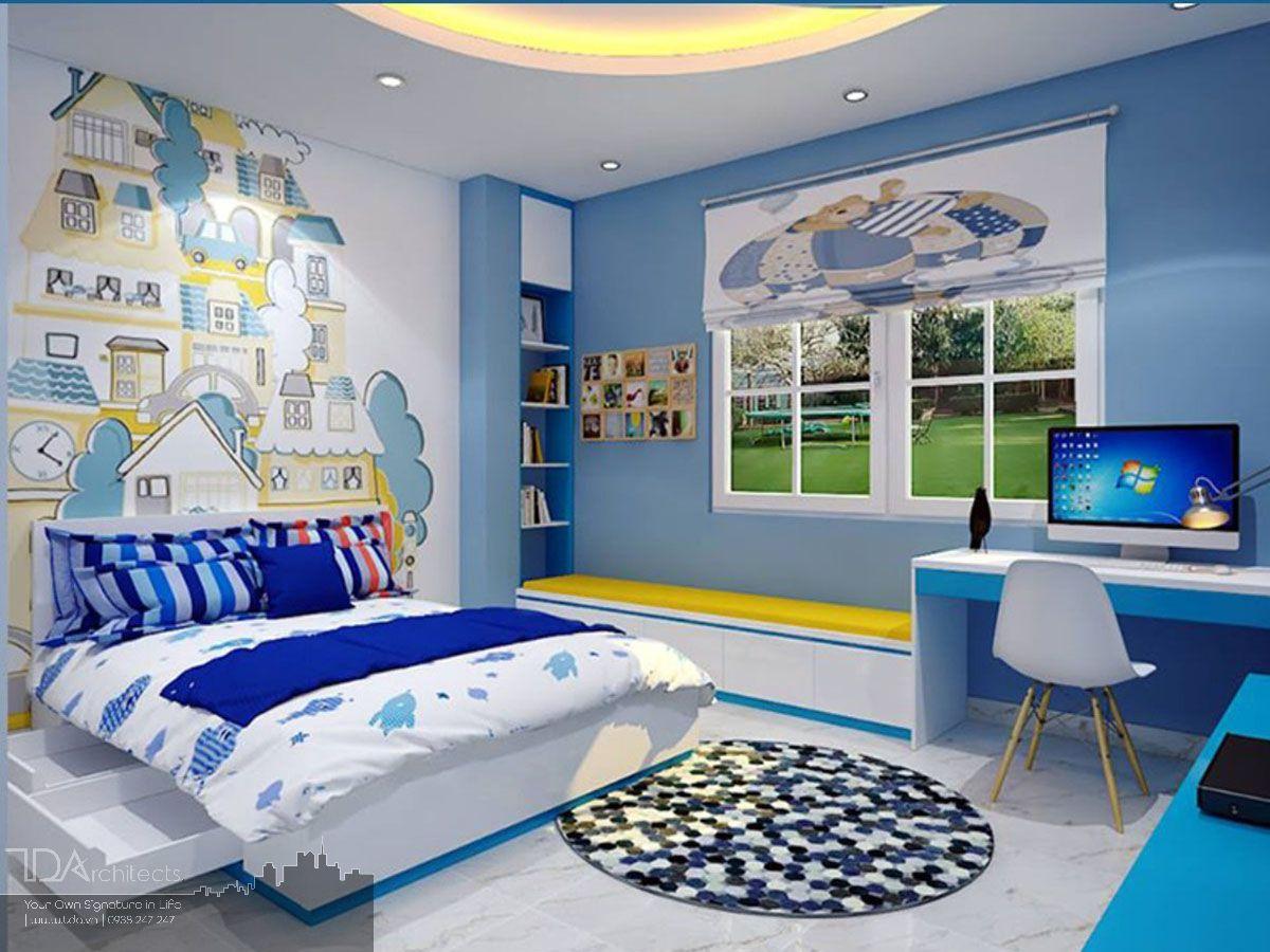 Mẫu phòng ngủ đầy màu sắc cho bé gái