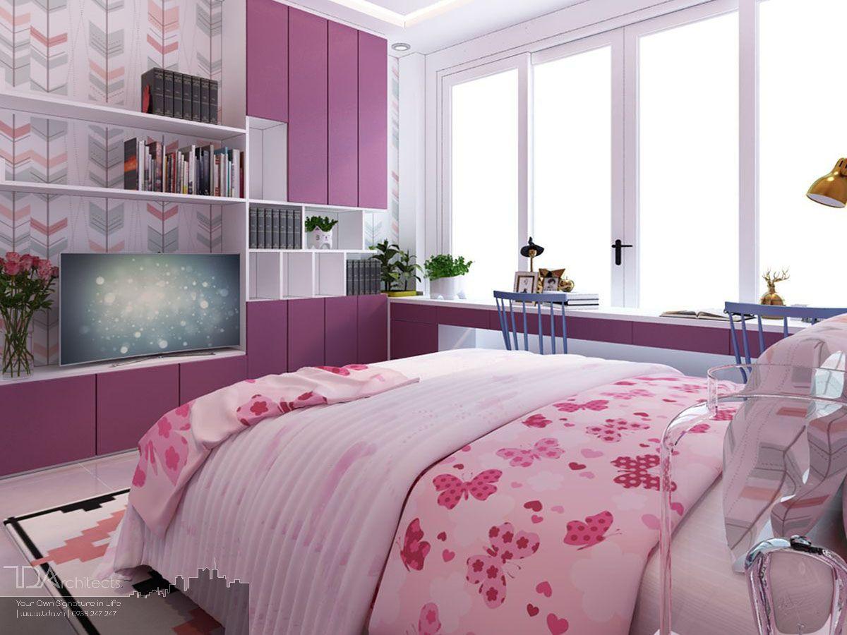 Mẫu phòng ngủ với tông màu nổi bật
