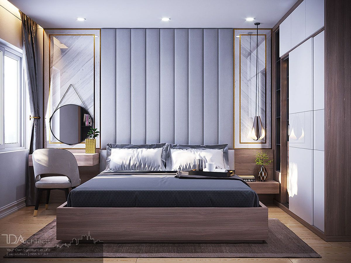Thiết kế phòng ngủ mang hơi hương hiện đại