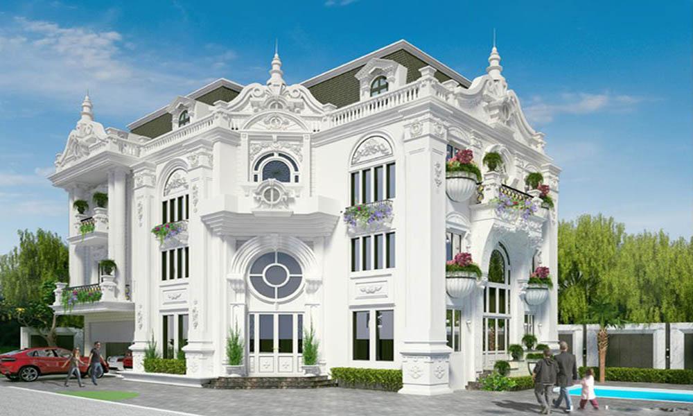 Phong cách thiết kế biệt thự 2 tầng cổ điển