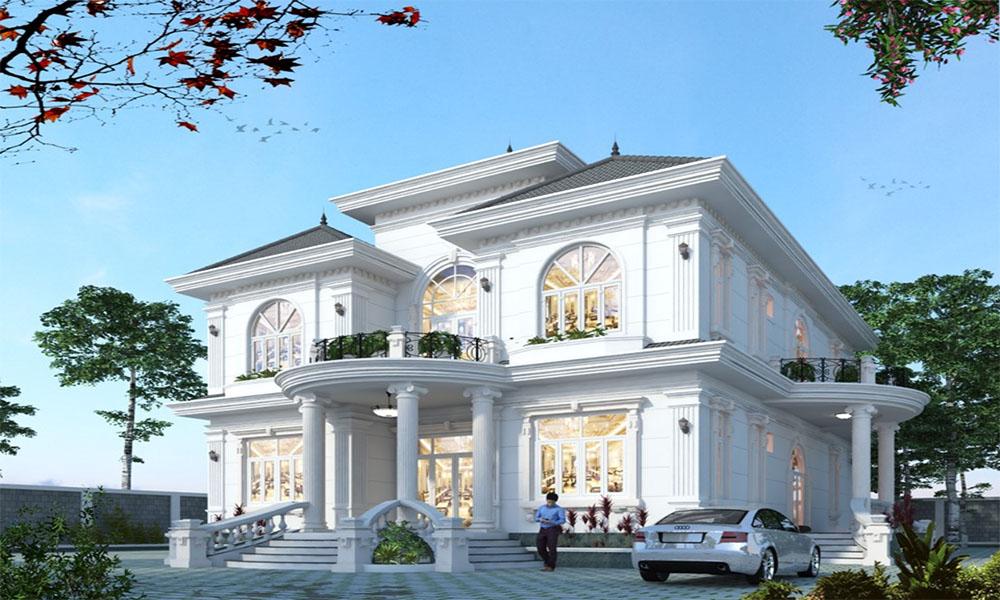 Mẫu thiết kế biệt thự 2 tầng cổ điển sang trọng