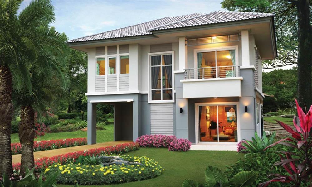 Biệt thự 2 tầng tận dụng tối đa diện tich