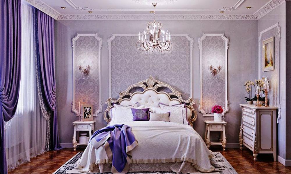 Phòng ngủ với tone màu tím lãng mạn
