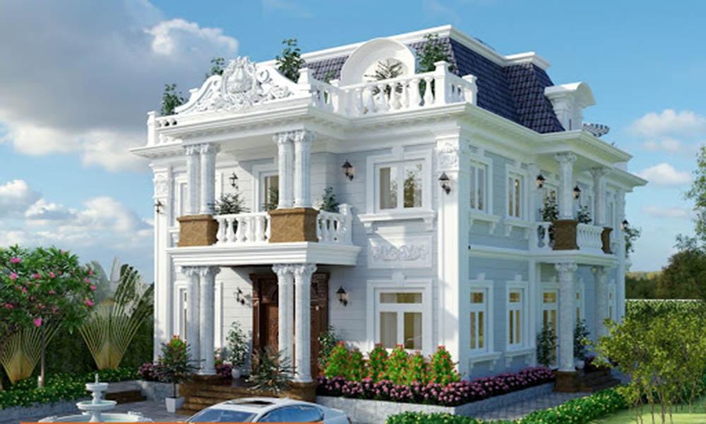 Thiết kế biệt thự 2 tầng theo phong cách Pháp