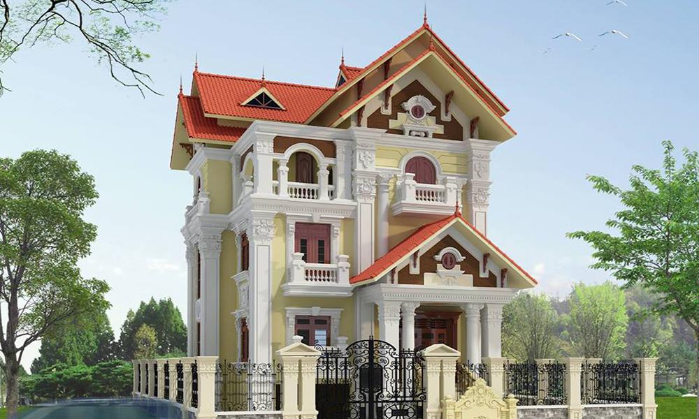 Biệt thự 3 tầng cổ điển tại Long Thành
