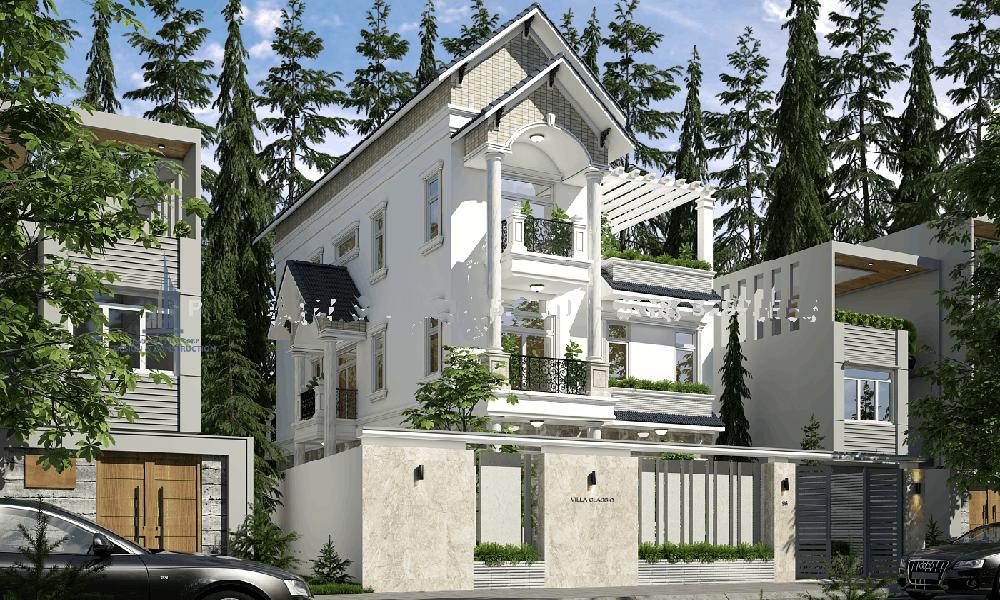 ThIết kế 3 tầng mái thái cổ điển
