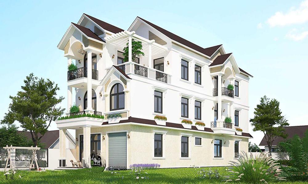 Biệt thự 3 tầng mái thái nhà vườn