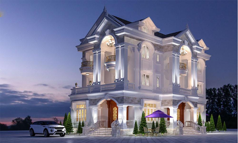 Thiết kế biệt thự 3 tầng với không gian sang trọng, đẳng cấp