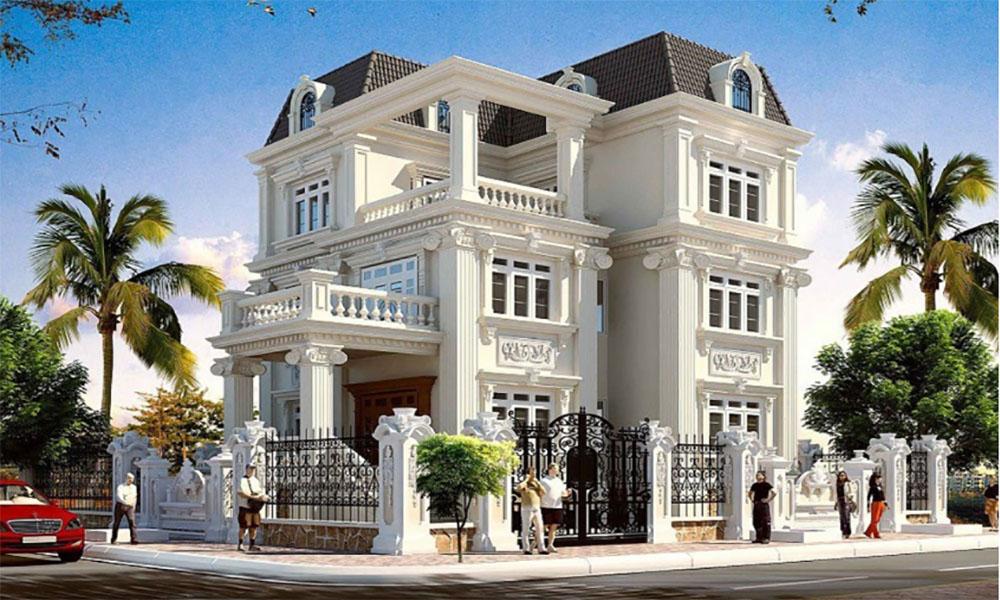 Biệt thự kiểu Pháp mái Mansard