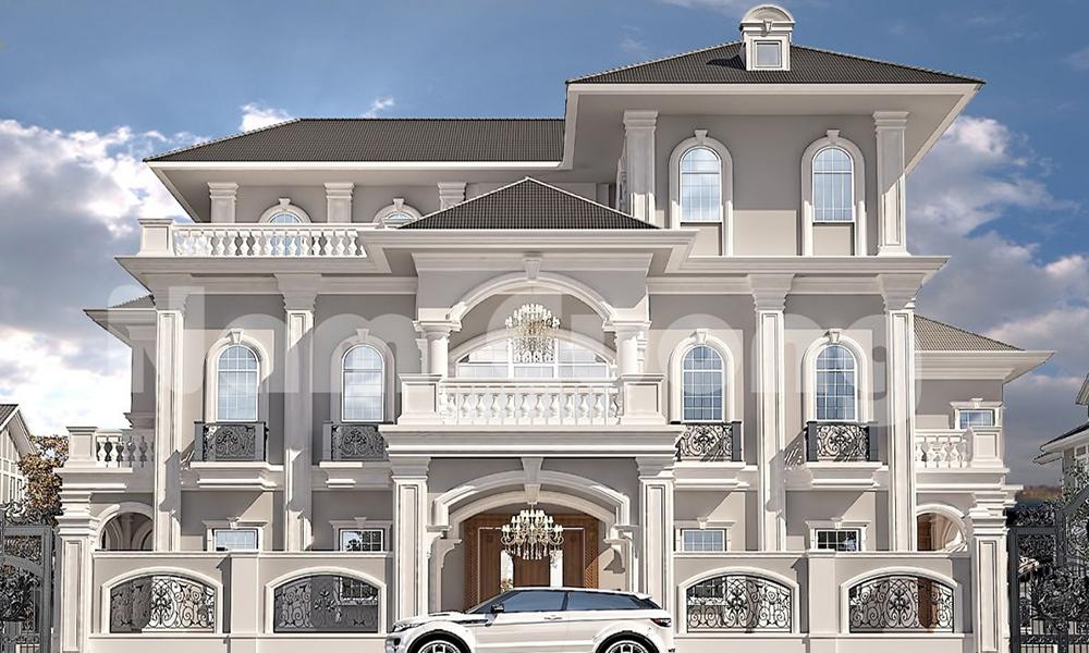 Thiết kế biệt thự mái thái tân cổ điển