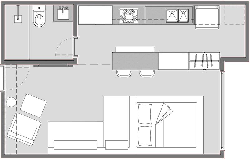 Cấu trúc biệt thự cấp 4 một tầng