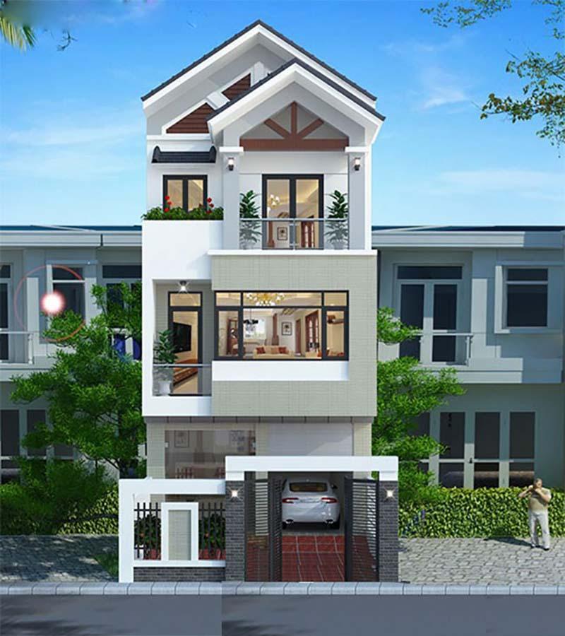 Mẫu nhà 3 tầng đẹp thiết kế hiện đại