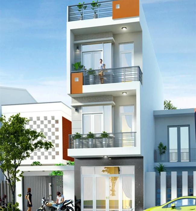 Nhà lệch tầng 4x18m hiện đại