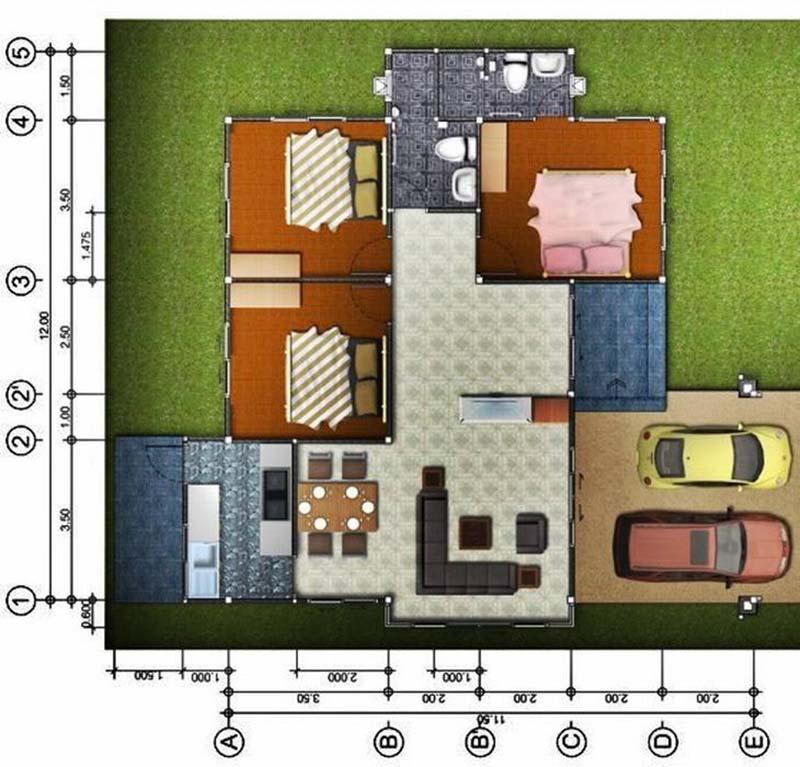 Sơ đồ biệt thự cấp 4 sân vườn