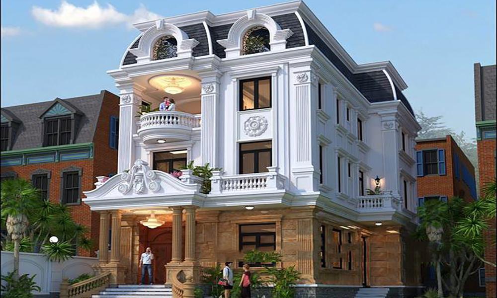 Xu hướng thiết kế biệt thự 3 tầng tân cổ điển