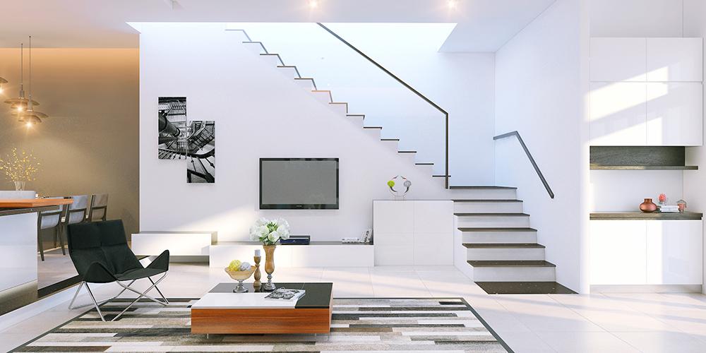 Cầu thang lên lầu 1