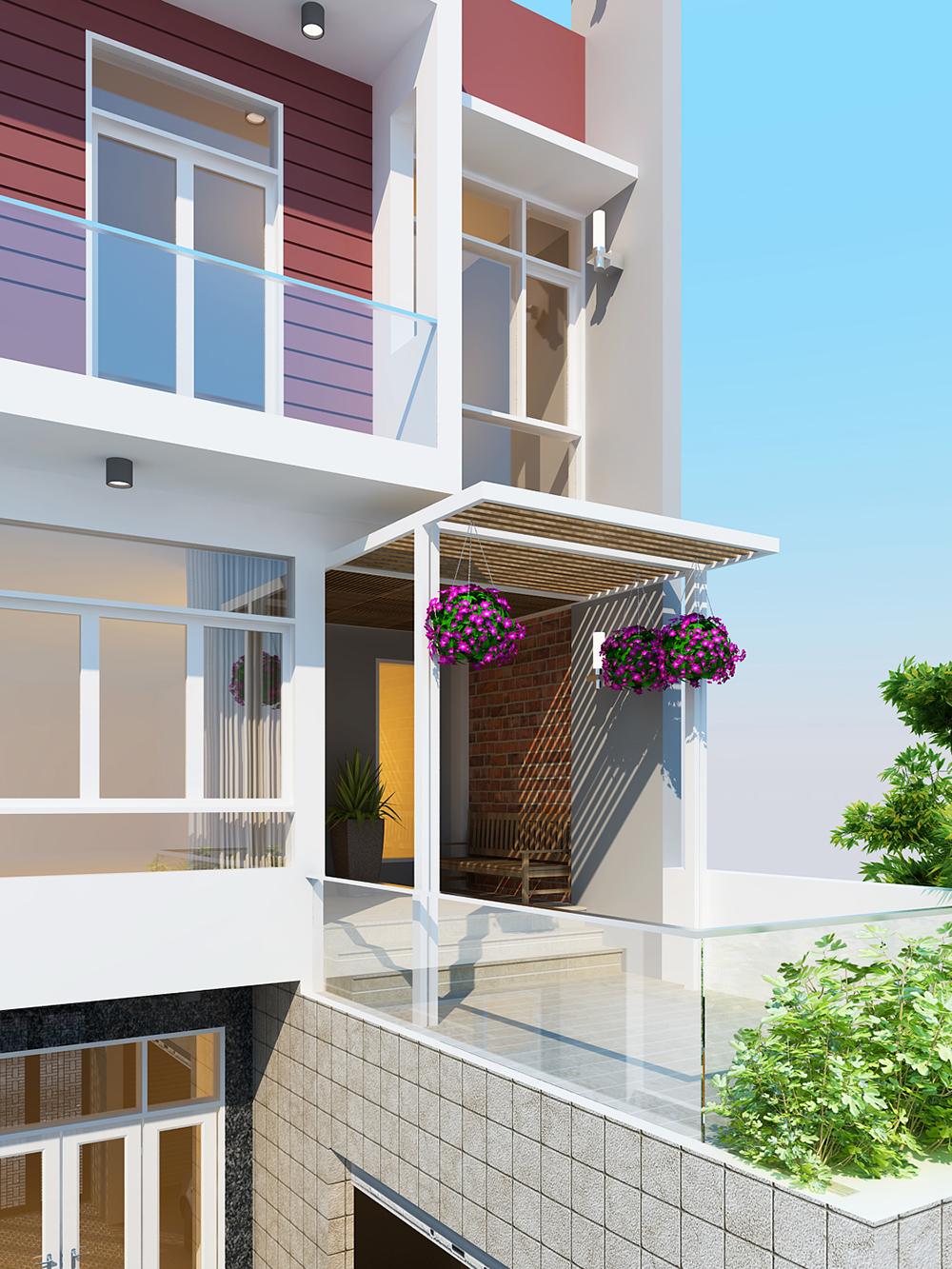 chi tiết thiết kế nhà phố 6x18m với 4 phòng ngủ