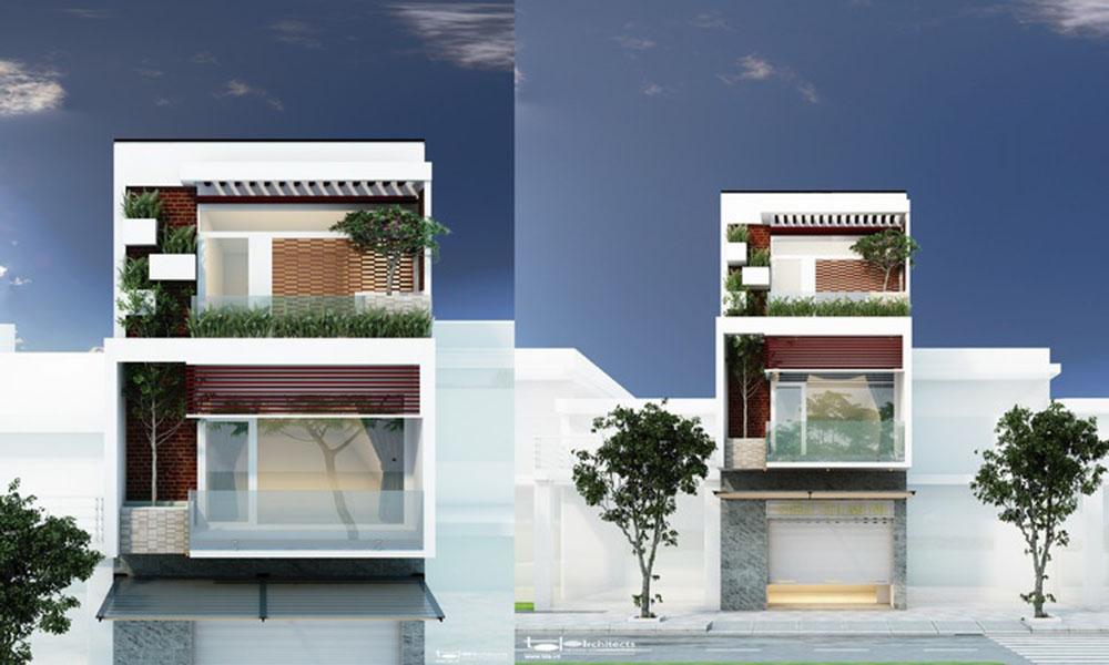 Mẫu thiết kế nhà phố tích hợp kinh doanh siêu thị