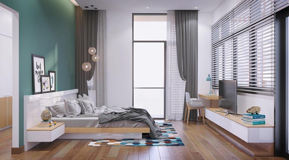 Phòng ngủ đảm bảo đầy đủ tiện nghi