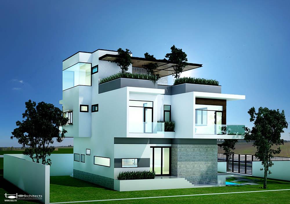 Thiết kế kiến trúc bên ngoài biệt thự
