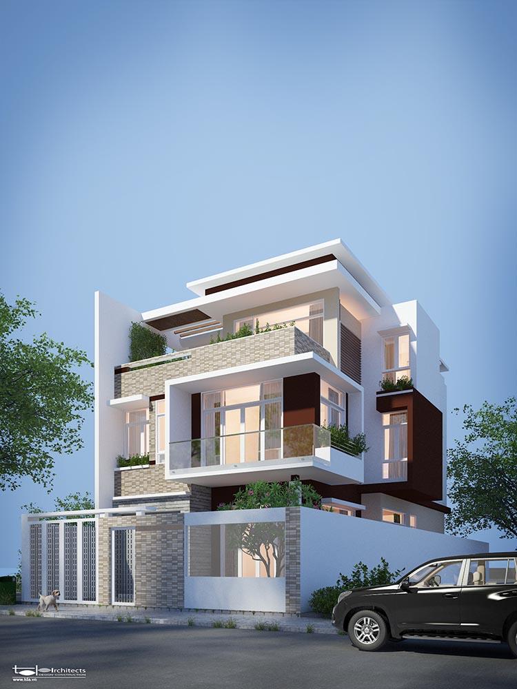 Thiết kế nhà phố hiện đại diện tích 8x16m