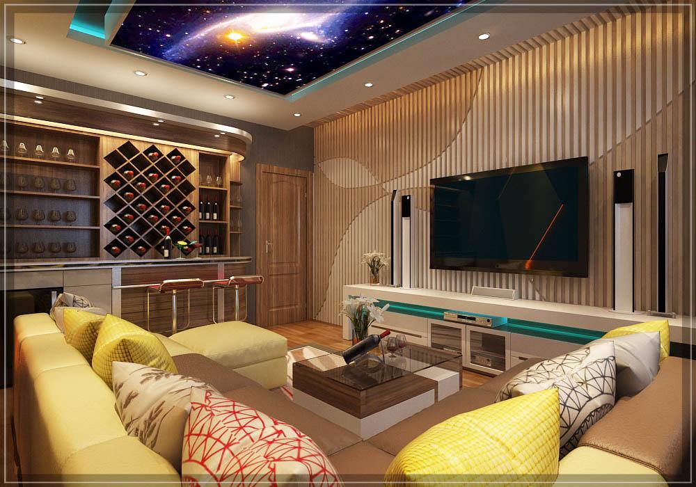 Tủ rượu trong phòng Karaoke