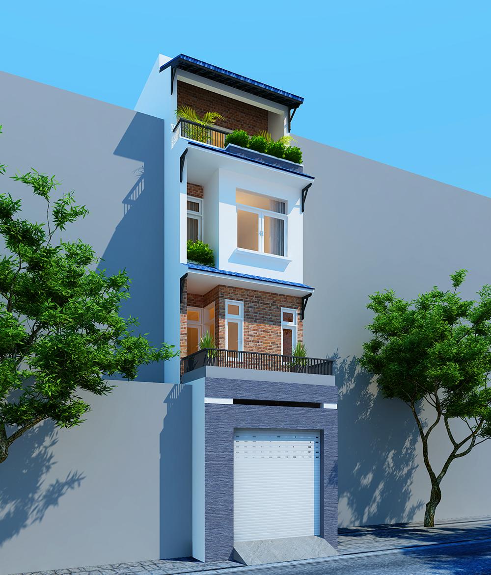 Thiết kế bên ngoài nhà phố nhỏ