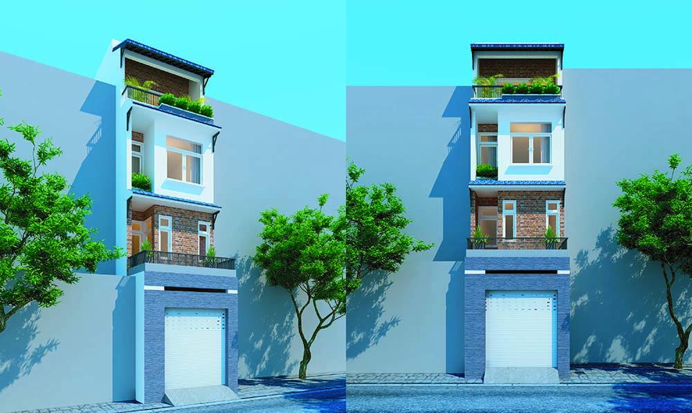 Thiết kế nhà phố diện tích nhỏ 4x12m